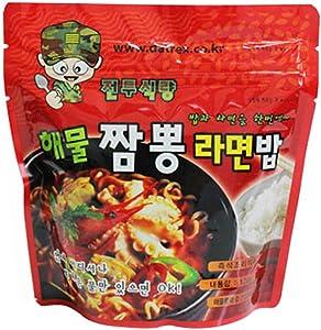 kimbyengjang Korean Military MRE Ramen Spicy Seafood Noodle Soup with Rice 120g/3pack