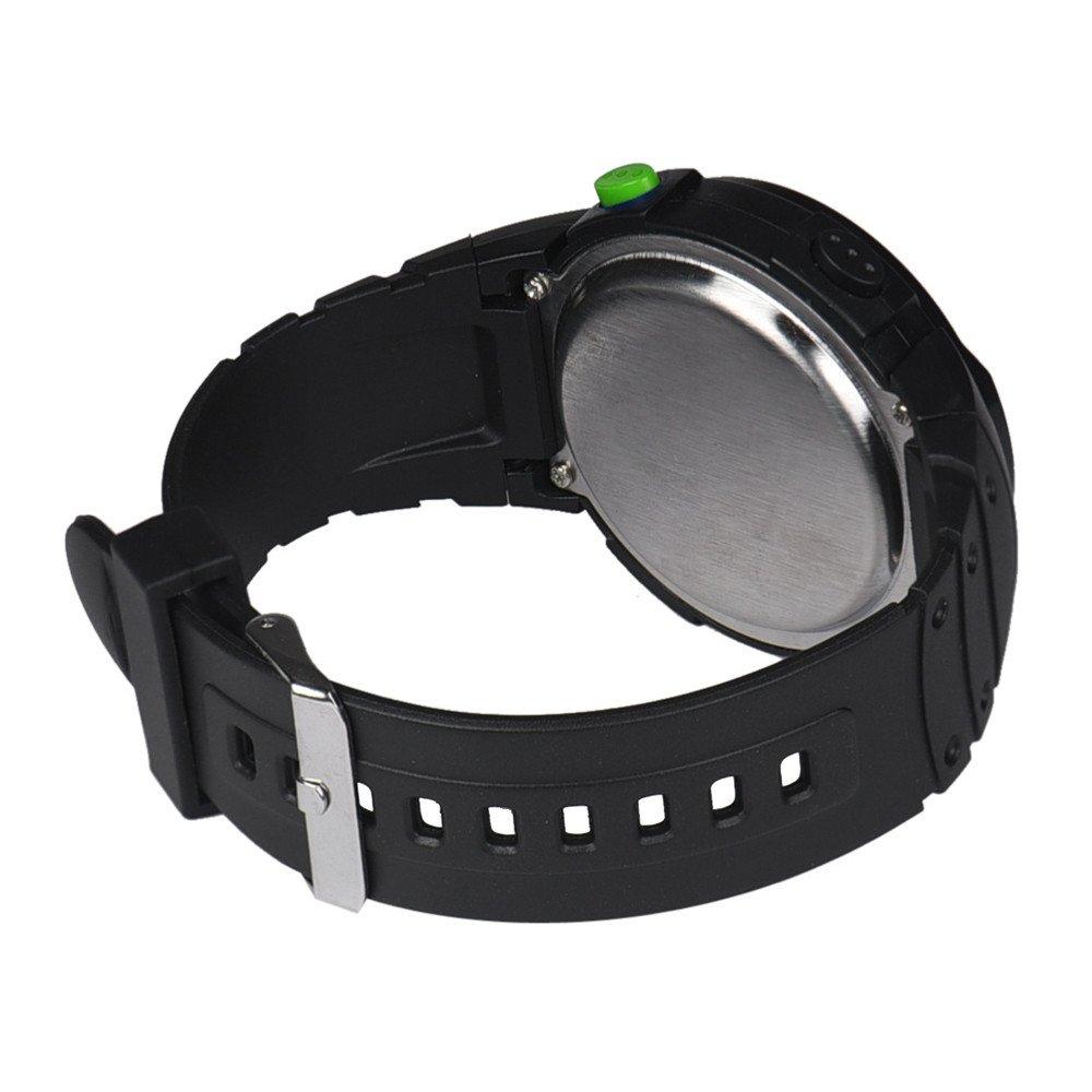 Casual Watches for Men Clearance,Fashion Waterproof Men's Boy LCD Digital Stopwatch Date Rubber Sport Wrist Watch,Sports Fan Watches,Green by CieKen Watch (Image #2)