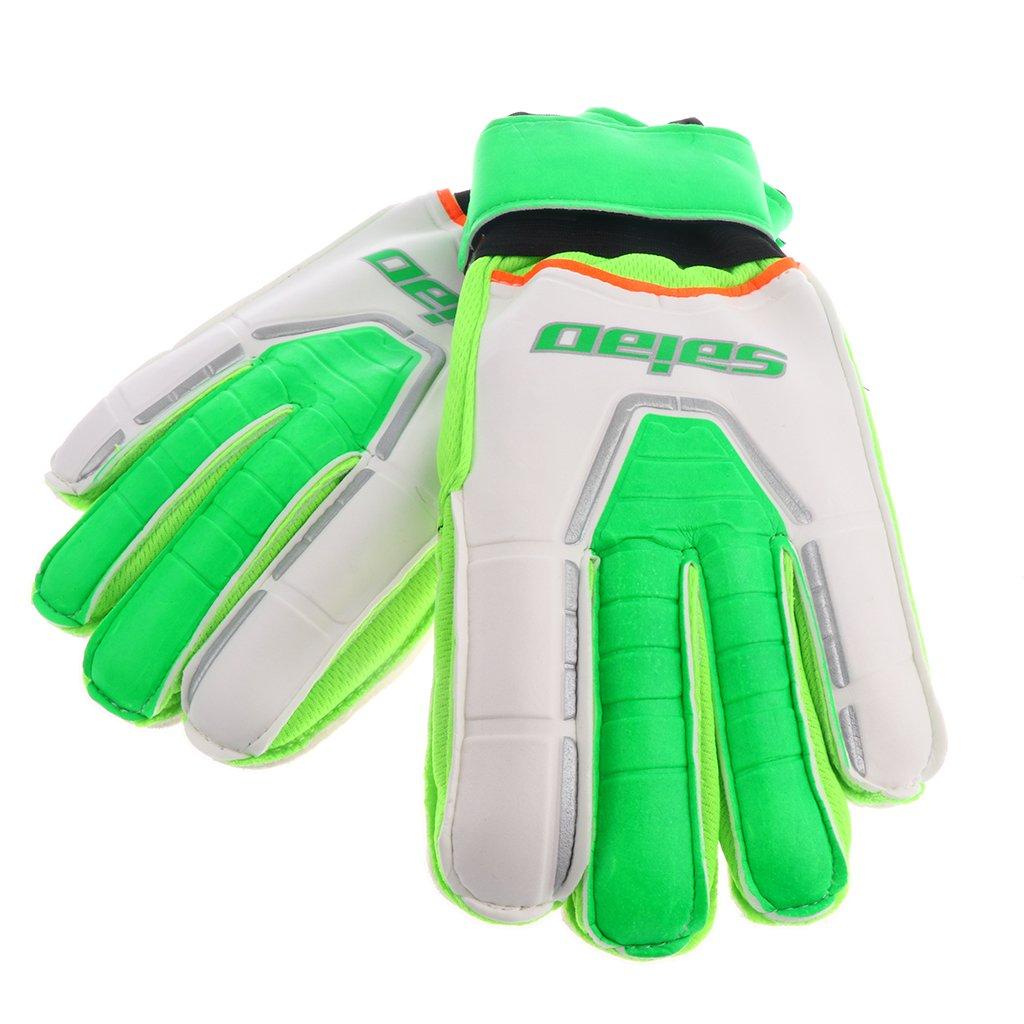 MagiDeal Junior Teens一致トレーニングゴールキーパーGoalie Gloves B078VPB2KK蛍光緑