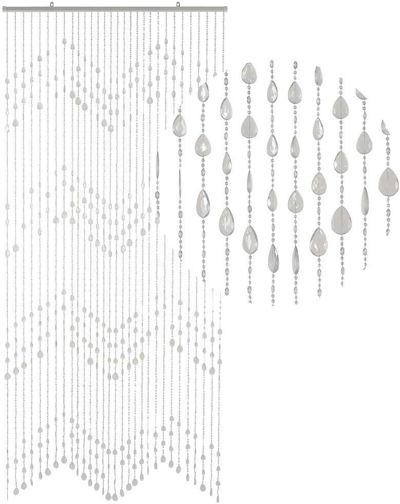 HAB & GUT -DV0273- Cortina para Puertas Gotas, Transparente, 90 x 200 cm