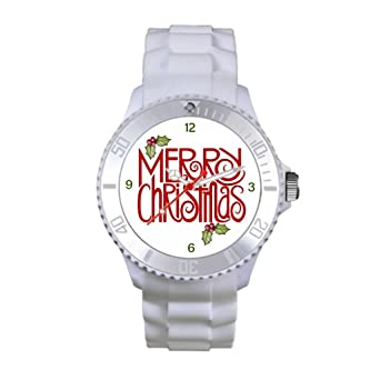 Lgtbg Plastic Best Strap Watches Christmas White One size