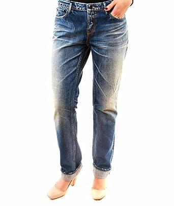 27620c486065 Denham Damen MAREN Denim Boyfriend Fit Nicht Jeans Zerrissene Blau ...