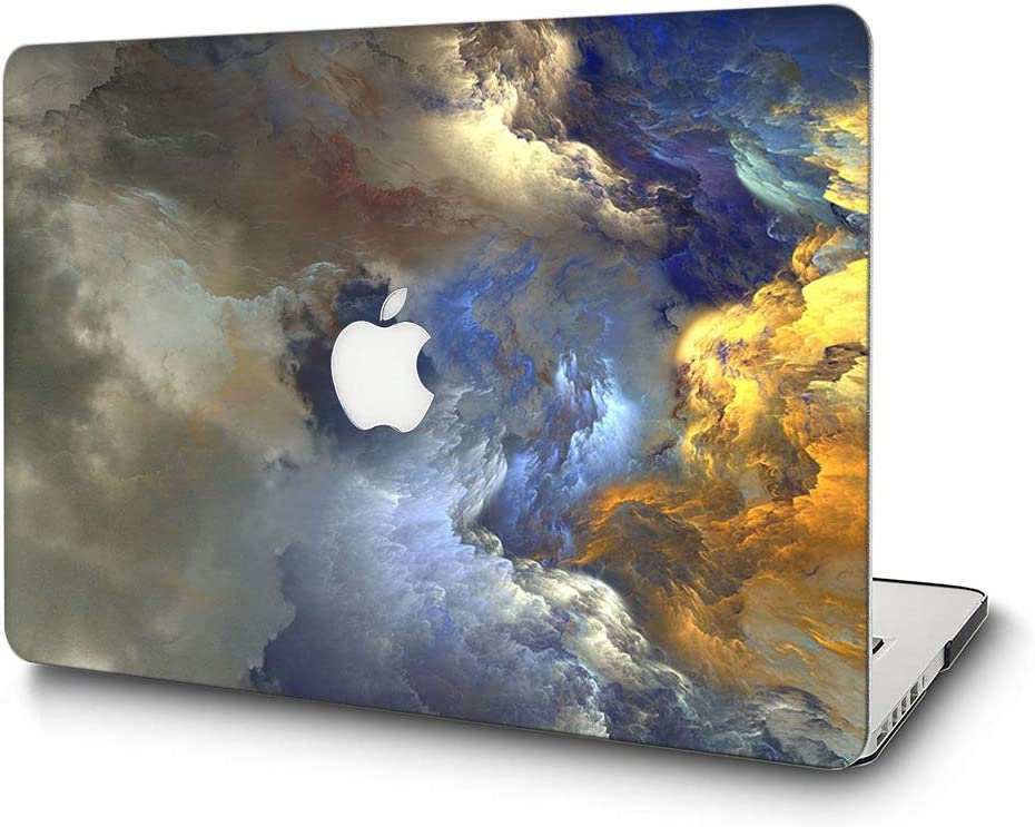 "L2W MacBook Pro 13 Inch Case Plastic Printed Protective Hard Cover for Apple Laptop Mac Pro Oldest 13.3"" with CD Drive (Released in 2009~2011) Model: A1278,Cloudy"