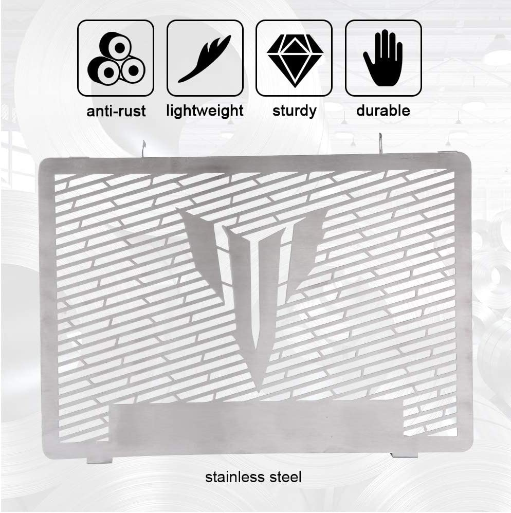 Garde de radiateur de moto garde de couverture de protection de radiateur de moto en acier inoxydable pour MT09 2014-2017