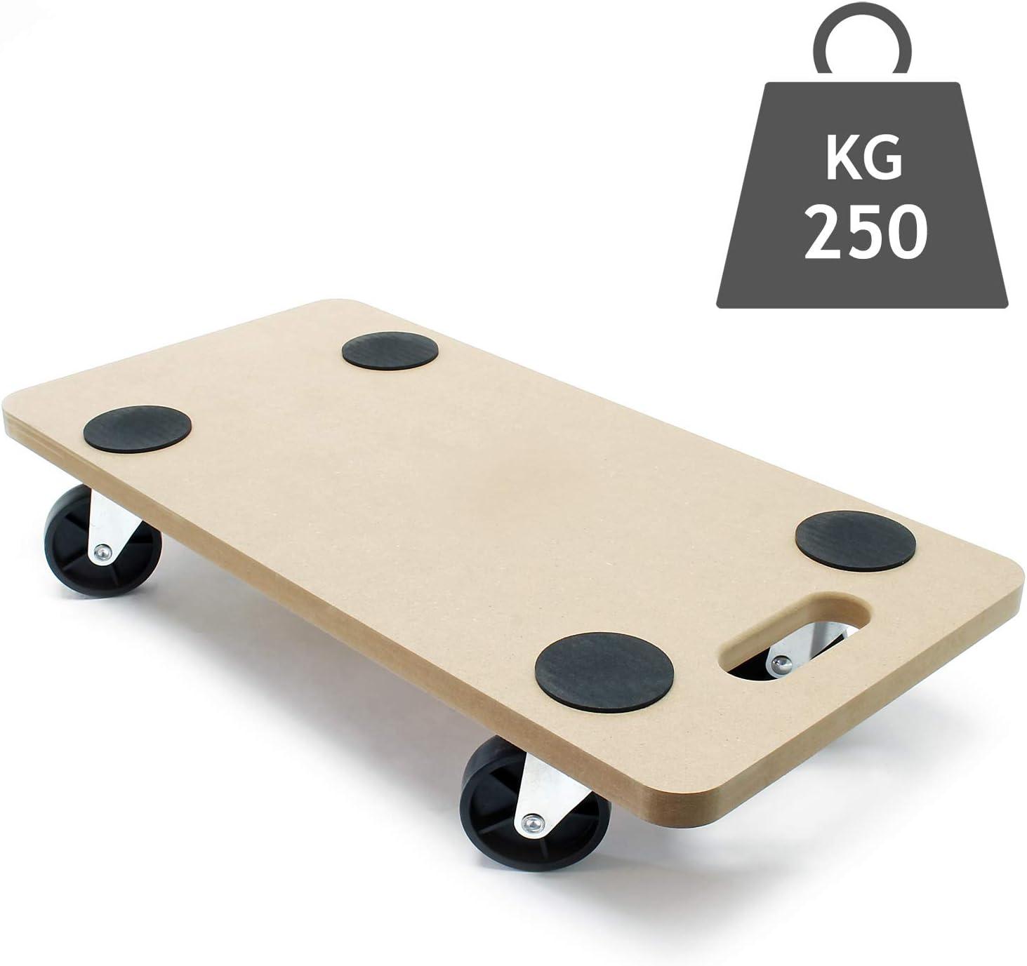Chariot de transport /à roulettes pour Meuble Charge lourde Plaque MDF 580x290mm 250 kg D/ém/énagement