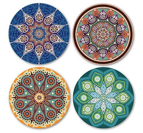 Coastero Absorbent Stone Drink Coasters - Set of 4