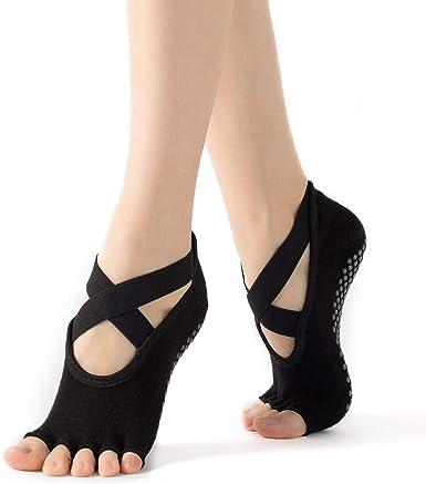 1 Pair Sport Yoga Women Girls Casual Half Toe Pilates Ankle Grip Non-Slip Socks