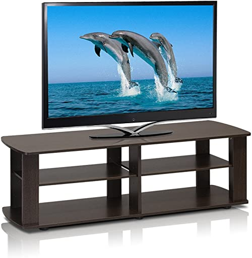 Home Loft Concepts 3 Tier 43 in. TV Stand Dark Brown