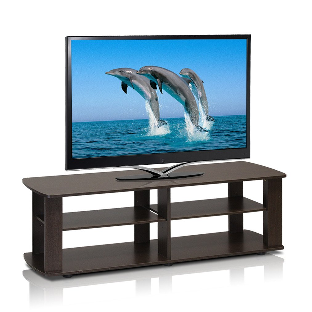 Home Loft Concepts 3 Tier 43 in. TV Stand (Dark Brown)