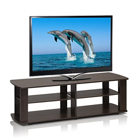 3 Tier 43 in. TV Stand By Home Loft Concepts Dark Brown