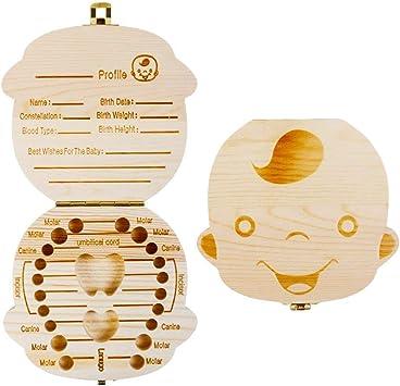 Cisixin Bebé dientes caja de almacenamiento caja de dientes para ...