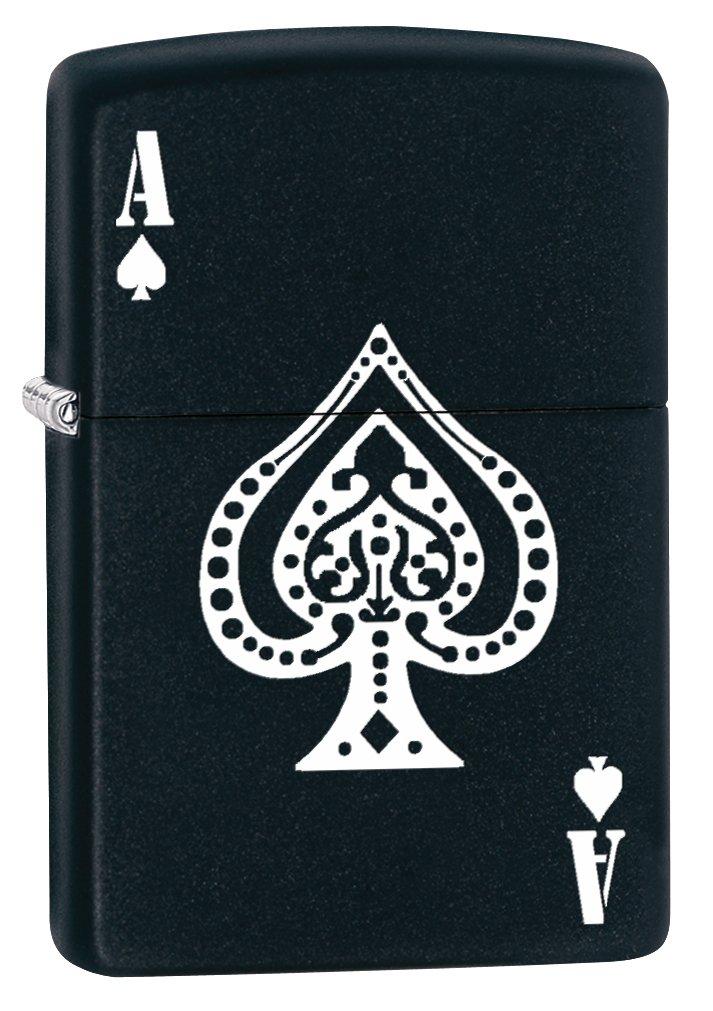 Zippo Lighter: Ace of Spades - Black Matte