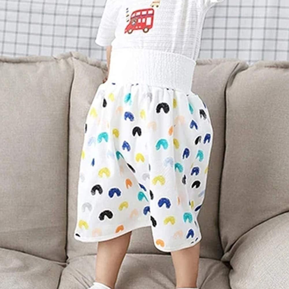 Kleinkind Baumwolle Trainingshose Stoffwindel R/öcke 2-in-1 Wasserdicht Wiederverwendbare T/öpfchen Windeln Windeln f/ür Baby Jungen M/ädchen XIHUANNI Baby Windel Rock Shorts