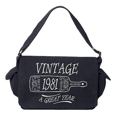 Tenacitee Aged Like a Fine Wine 1981 Brushed Canvas Messenger Bag
