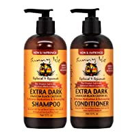 Sunny Isle New & Improved EXTRA DARK JBCO Hydration & Detangling Shampoo & Conditioner 12oz Set