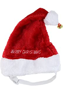 93c6450353f Amazon.com   Midlee Merry Christmas Jingle Bell Dog Santa Hat ...