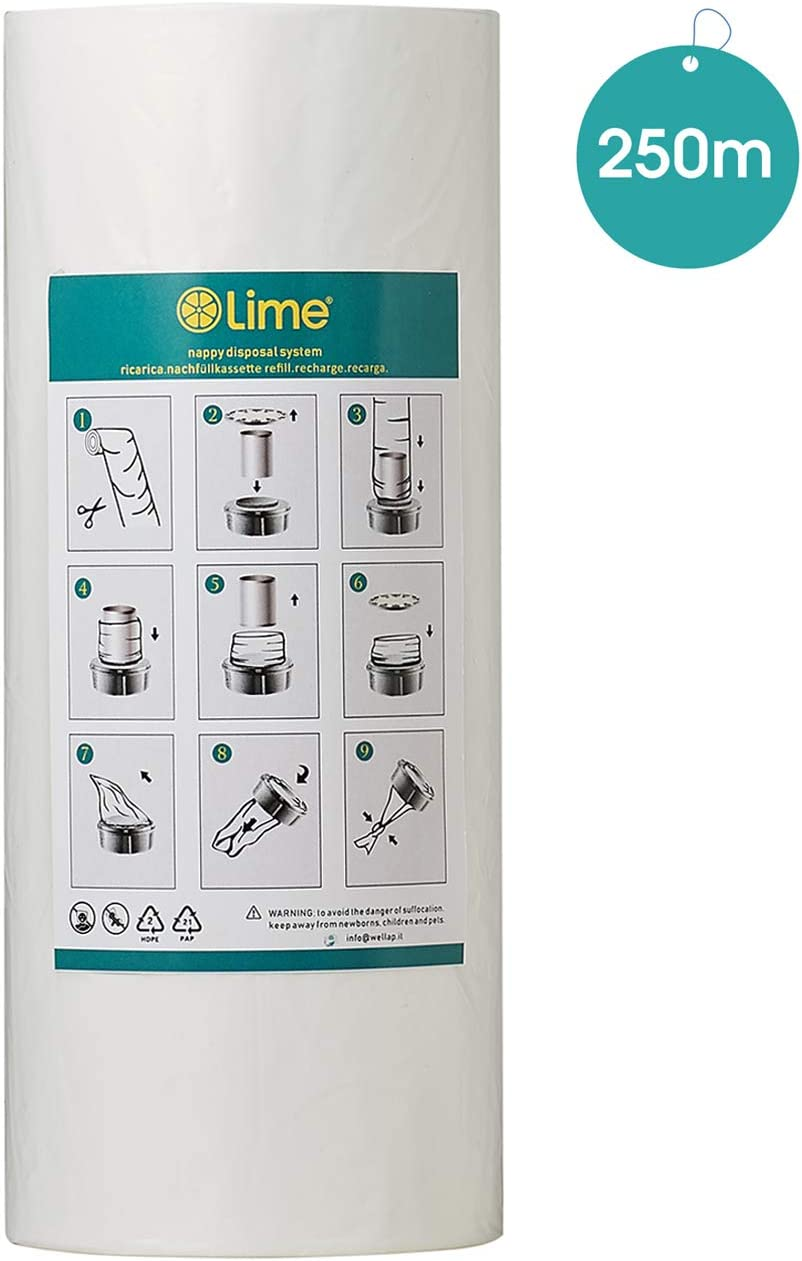 Compatible with Tommee Tippee Sangenic Refill Tube 60 Litter Locker II Angelcare /& Litter Locker II cartridges  Equivalent to 84 Angelcare 48 Sangenic Refills LOCKSMELL Nappy Bin Liner 600m