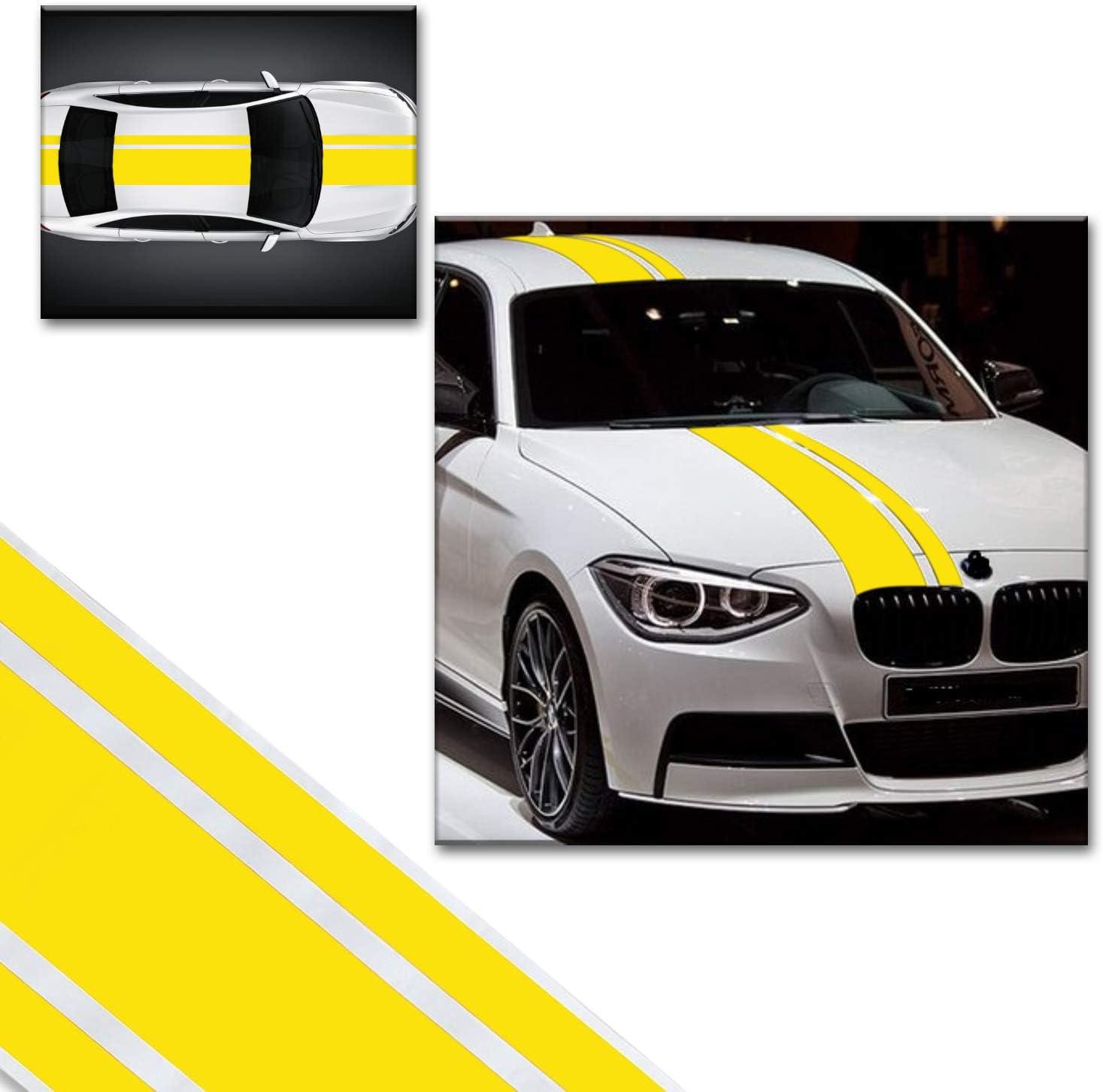 Adatech Vinyl Sticker Aufkleber Fur Auto Vinyl Streifen Universal Gelb Farbe 130cm Auto