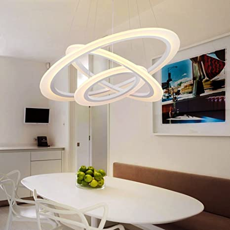 Joeyhome - Moderna lámpara LED para salón, lámpara de techo ...