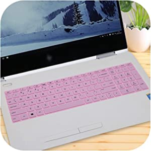 15 15.6 Inch Laptop Keyboard Cover Protector for Hp Envy X360 Bp Bq Ch Cn Cs Series with AMD Ryzen 5 2500U 2700U 15-Bq101Na-Pink-