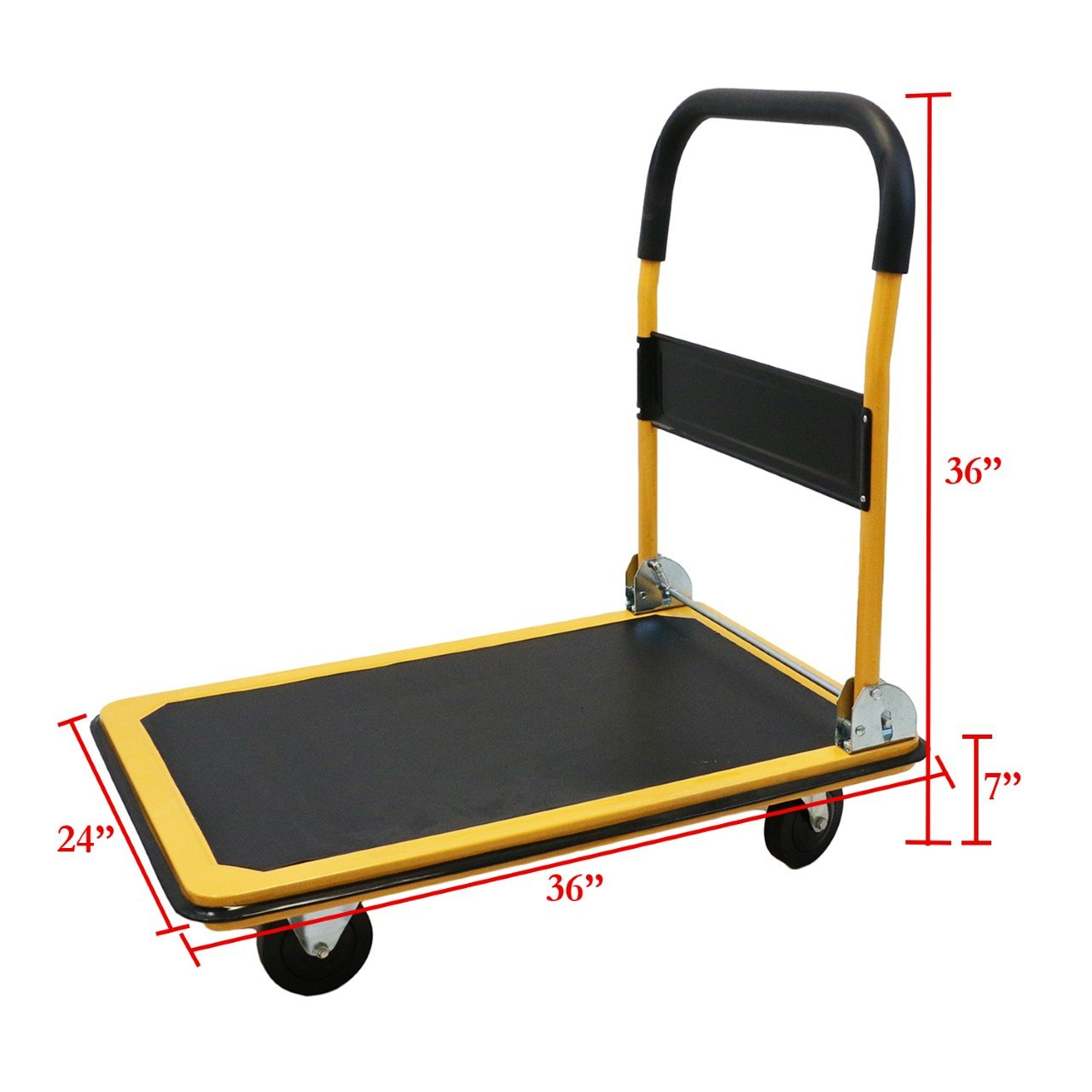 Magshion@ Platform Cart Folding Dolly Foldable Hand Truck Blue 2 Size - 330LB OR 660LB (660LB-Yellow) by Magshion (Image #2)