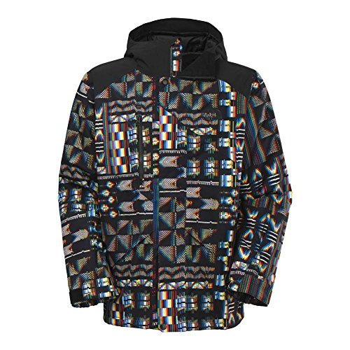 The North Face Dubs Insulated Jacket Mens TNF Black Glitch Print (Dub Jacket)