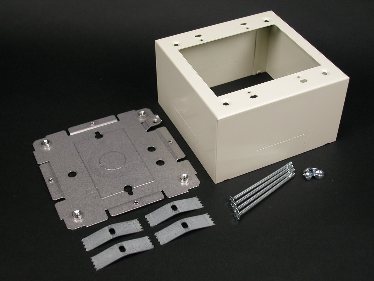 Wiremold Legrand V2444-2 Steel 2-Gang Extra Deep Device Switch Box V2400 Series, Ivory