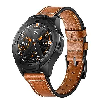 Aresh - Correa de reloj para Samsung Gear S3 Frontier y Classic; recambio de piel auténtica para relojes inteligentes.