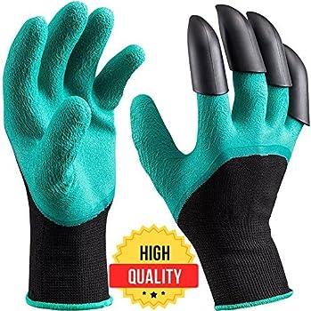 Aeasyby Garden Genie Gloves w/ Claws Waterproof Gardening Gloves
