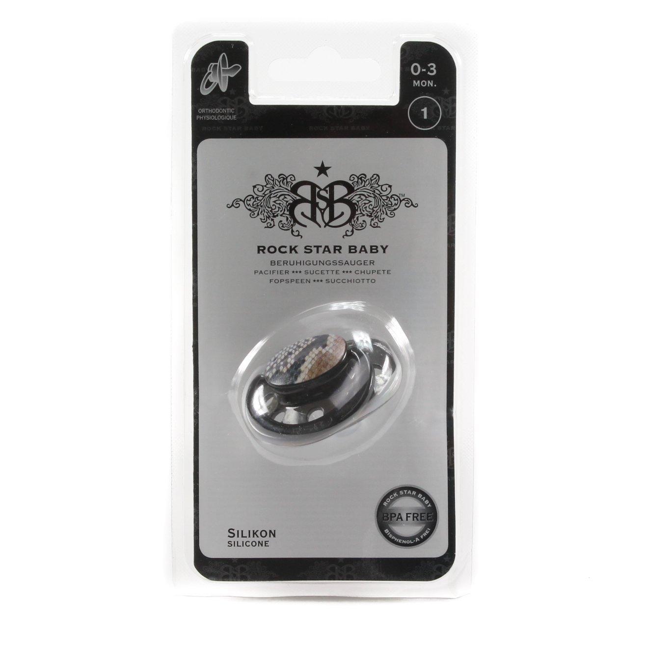 Amazon.com: Rockstar Baby silicona chupete Símbolo de ...