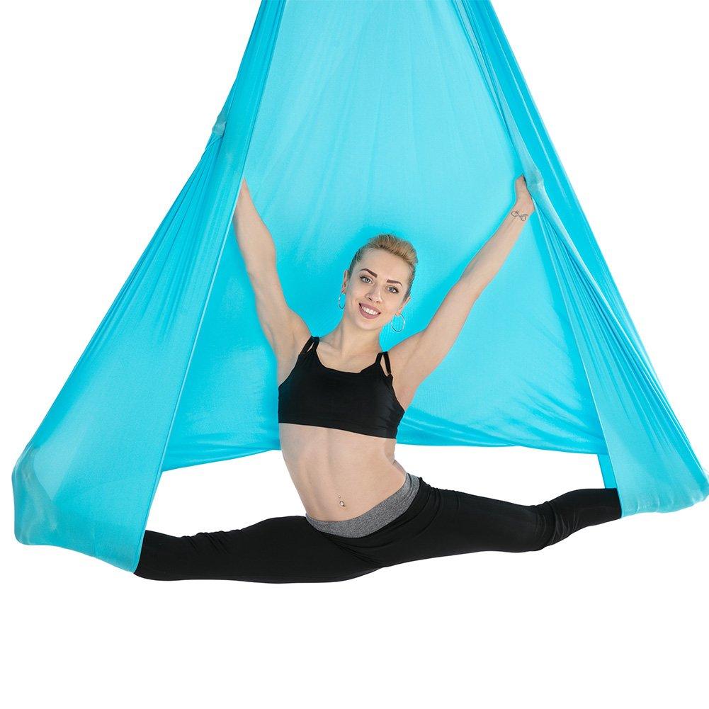 Tofern Anti-Gravity Yoga Tuch 500 x 280cm Bruchlast 900kg Robust Aerial Silk