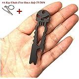 Doinshop New Useful Outdoor Stainless Skull EDC Survival Pocket Tool Key Ring Opener