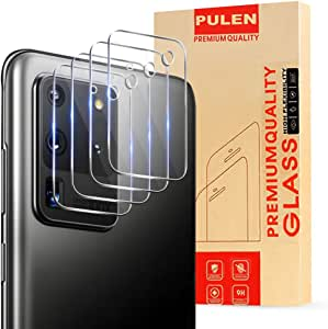 [4-Pack] PULEN Camera Lens Protector for Samsung Galaxy S20 Ultra 5G (6.9''),9H Hardness Tempered Glass HD Clear Bubble Free Anti-Scratch Glass Lens Glass Protector