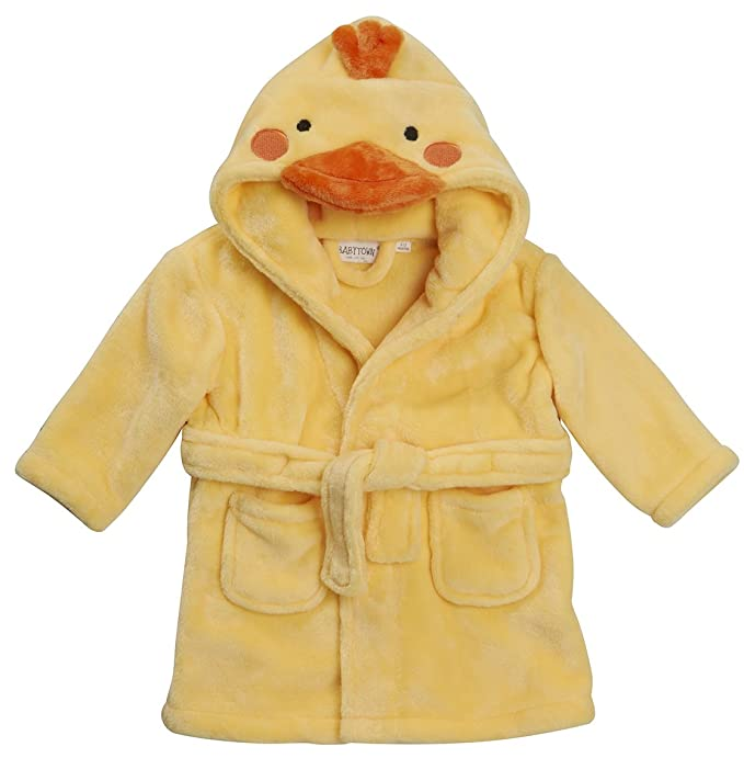 Baby Novelty Dressing Gown Baby Mouse Panda Duck Hooded Face Detail ...