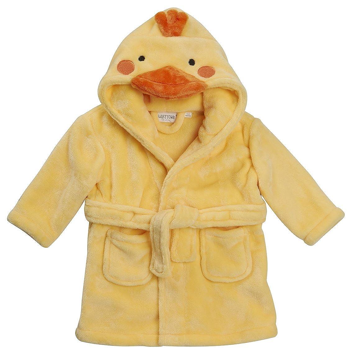 Bambino novità vestaglia Baby Mouse Panda Duck Face con cappuccio dettaglio 6-12 12-18 18-24
