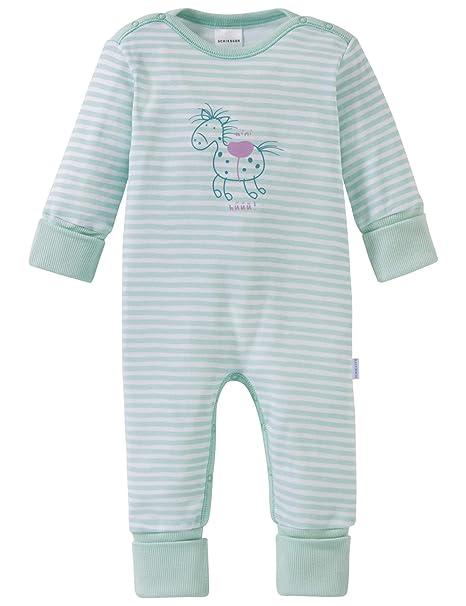 Schiesser Baby-M/ädchen Ponyhof Anzug mit Fu/ß Zweiteiliger Schlafanzug