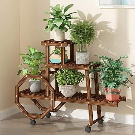Soporte de planta de madera Soporte de estante de flores Estantes ...