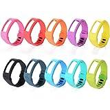 10PCS silicone sostituzione Polso della cinghia della fascia Wrist Band Strap w/Clasp Per Garmin Vivofit Bracelet Wrist Tracker (Dimensioni: L; 6.0 - 8.3 pollici) TH097