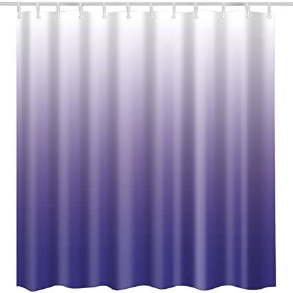 Modern Purple Shower Curtain FabricPurple Ombre Textured White Art Print Home Bath