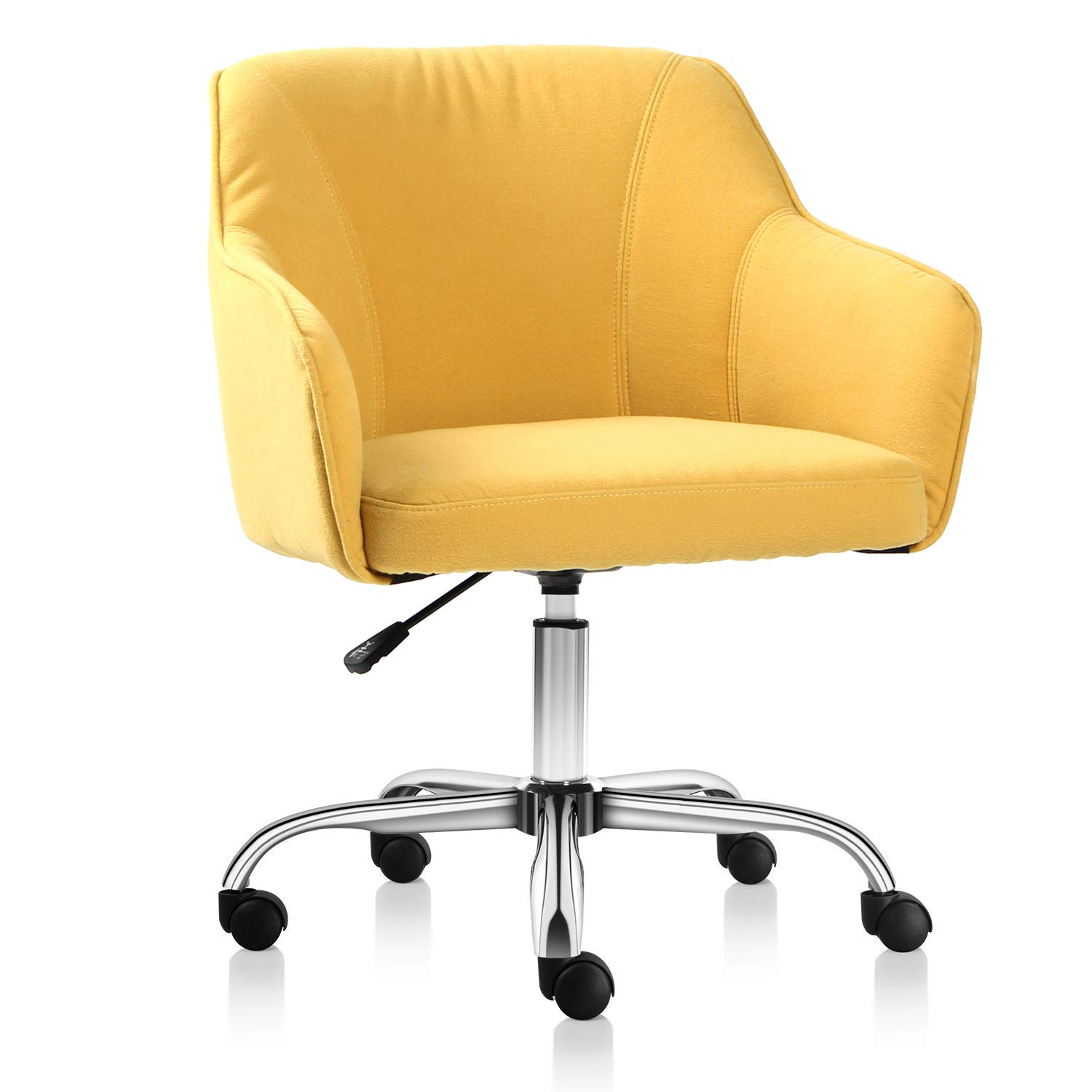 Rimiking Home Office Chair Upholstered Desk Chair with Arms for Conference Room or Office (Yellow) by Rimiking