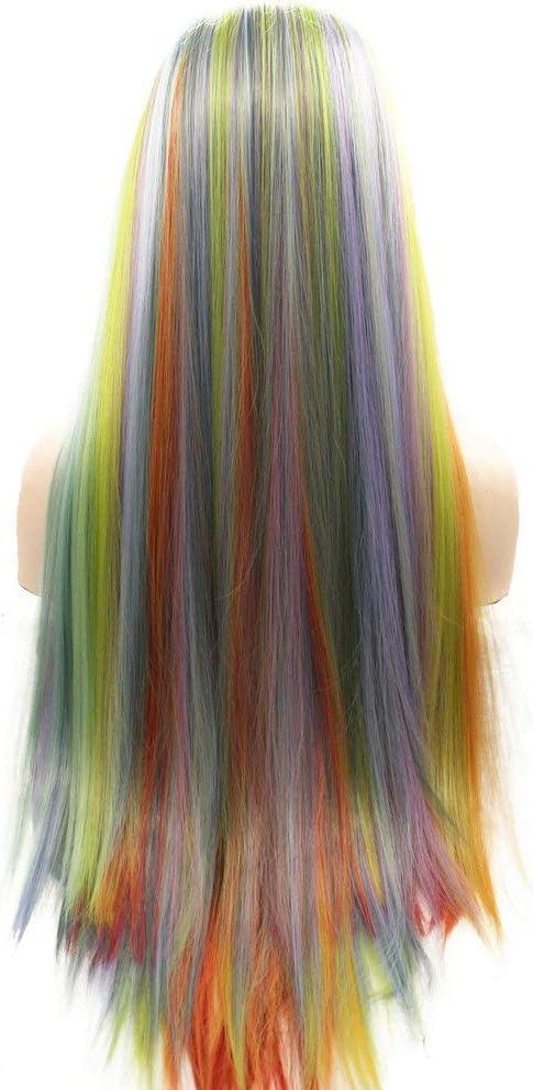 Peluca de sirena colorida, rosa, morado, verde, azul, naranja ...