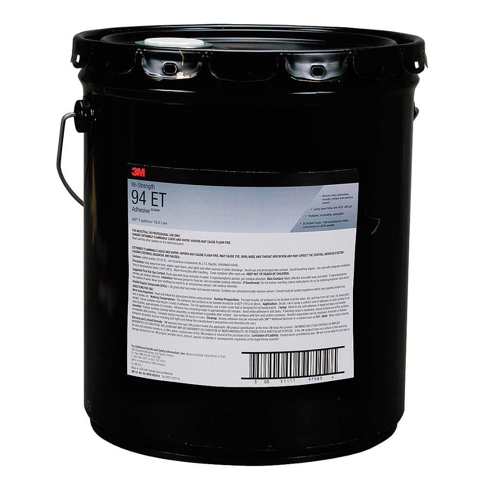 3M (94CA) Hi-Strength Postforming 94 CA Adhesive Clear Low VOC, 5 gal pail