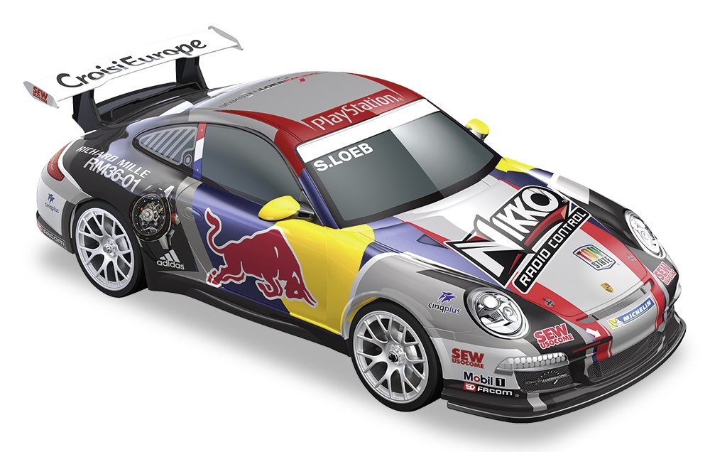 Happy People 36908 - Nikko RC Elite-Line ROT Bull Porsche 911 GTR RS 1:14, Fahrzeuge