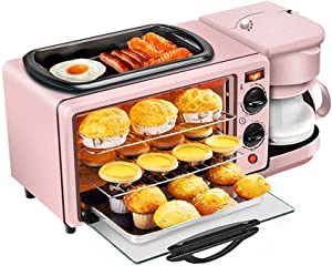 9L Mini Oven, 3-In-1 Multifunctional & Time Saving& Space Saving, Toaster Oven, Breakfast Coffee Machine, High Tea, Mini Smart Oven