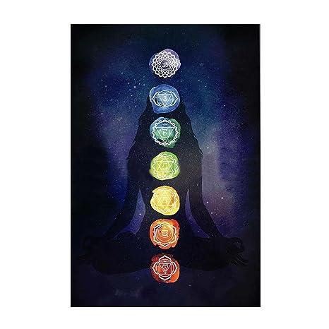 collectsound Rainbow 7 Chakra Mandala Bohemia Manta Tapiz Verano Playa  Toalla Yoga Mat 1831fc6d9778