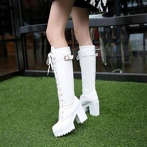Stivali Tacco Alto Donna Gambaletto Alto 10 cm Piattaforma