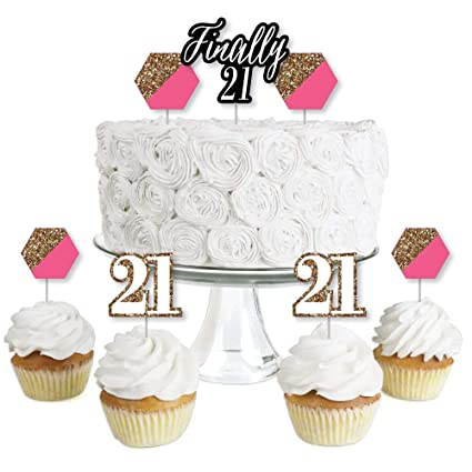 Amazon Com Finally 21 Girl 21st Birthday Dessert Cupcake