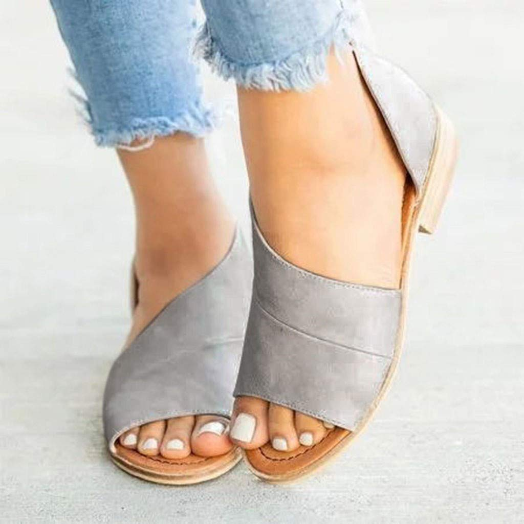 Sandalias Mujer Planas Verano 2019 EUZeo Sandalias Romanas Mujer Juanetes Chanclas Hawaianas Plataformas Zapatos Tacon Cu/ña Zapatillas Fiesta Playa Casual Sandals for Women Regalo