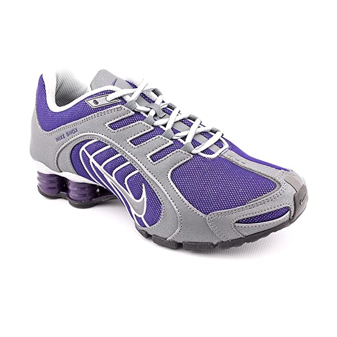 buy popular 11077 b8a1f ... purple white shox current 5b8a7 a431a  discount code for amazon nike  shox navina sparkle womens running shoes 356918 500 ink metallic dark