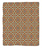 Chaoran 1 Fleece Blanket on Amazon Super Silky Soft All Season Super Plush Arabian Decor etColorful Geometric Patterns with Islamic Persian Ethnic Art Elements Eastern Boho Artsy Work Accessories